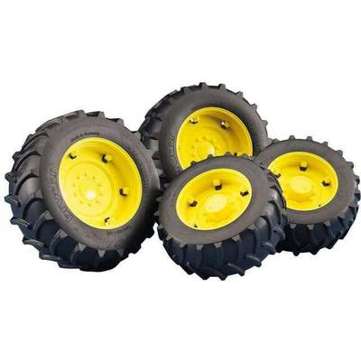 Bruder Twin Tyres with Yellow Rims 02321
