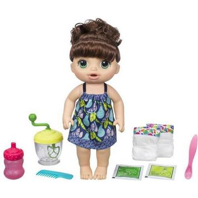 Hasbro Baby Alive Sweet Spoonfuls Baby Doll Girl Brown Curly Hair E0587