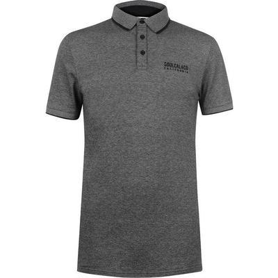 SoulCal Pique Polo Shirt Black/Grey (54804641)
