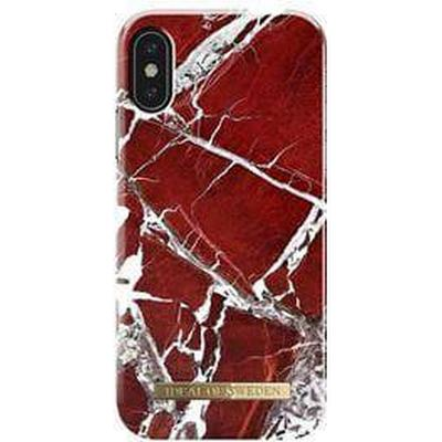 iDeal of Sweden Scarlet Red Marble Fashion Case (iPhone X)