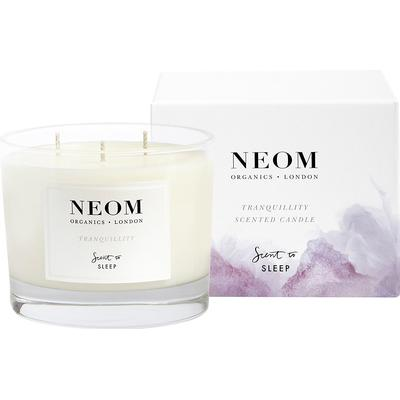 Neom Organics Tranquillity 3 Wicks Scented Candle English Lavender Sweet Basil & Jasmine 420g