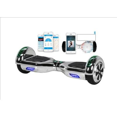"""ROBWAY -W1 Hoverboard 6,5"""" Bluetooth Chrome Silver"""