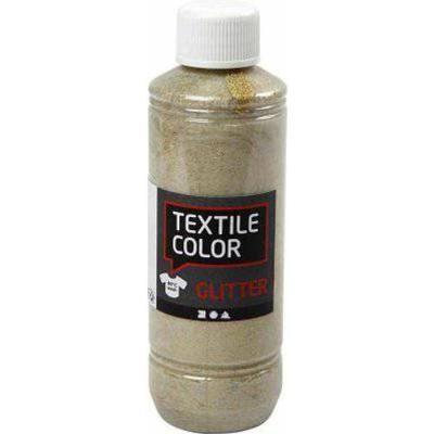 Textile Color Paint Glitter Gold 250ml