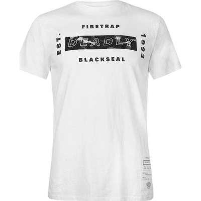 Firetrap Blackseal Hindenberg T-shirt White (59079501)