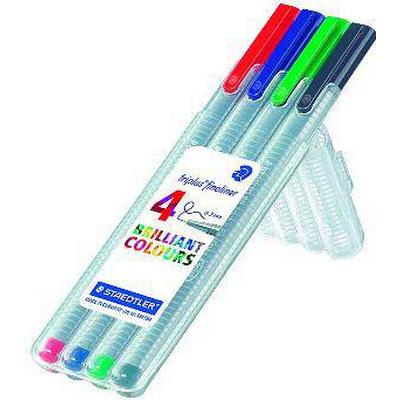 Staedtler Fineliner Triplus 334 0.3mm 4 Pack