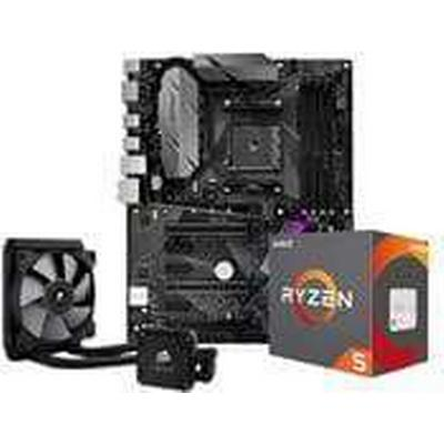 AMD Uppgraderingspaket - AMD Ryzen 5 1600X, Få med en H60 på köpet AMD Ryzen 5 1600X 6 Core 3.6GHz, B350-F, Corsair H60 ingår i köpet