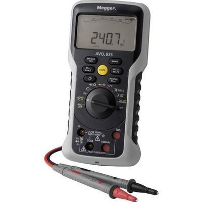 Megger AVO835 Hånd-multimeter digital, Analog Kalibrering efter: Fabriksstandard CAT III 1000 V, CAT IV 600 V Visning (counts): 10000