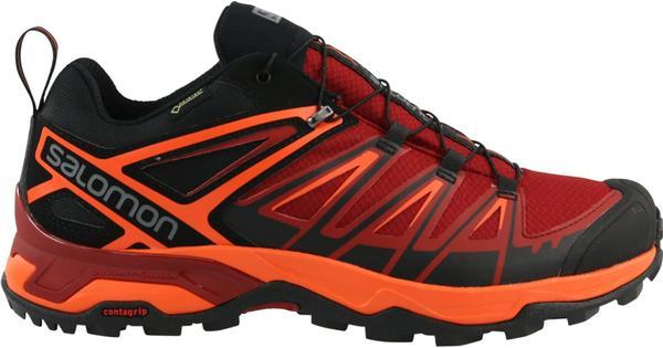 Salomon X Schwarz Ultra 3 GTX (398670) Sportschuhe Schwarz X Orange Rot d913a9