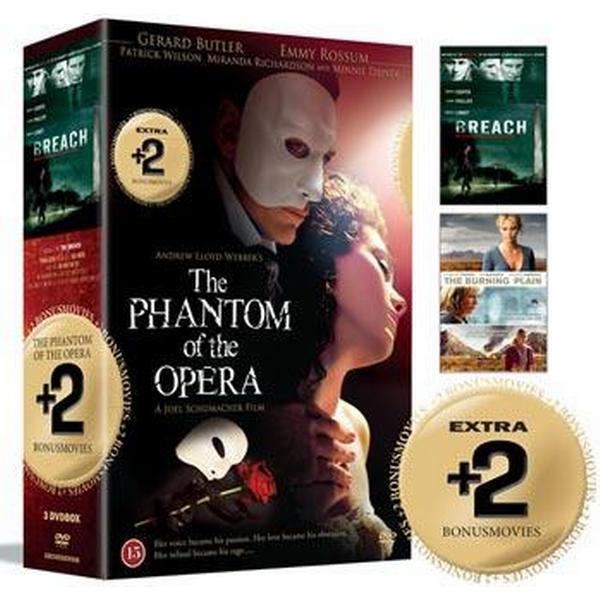Phantom of the opera + 2 Bonusfilmer: Box (3DVD) (DVD 2015)
