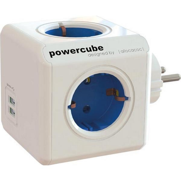 allocacoc PowerCube Original 4-way 2 USB Without Cable