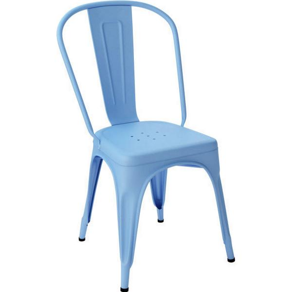 Tolix Chair A Azure Blue Outdoor Armless Chair