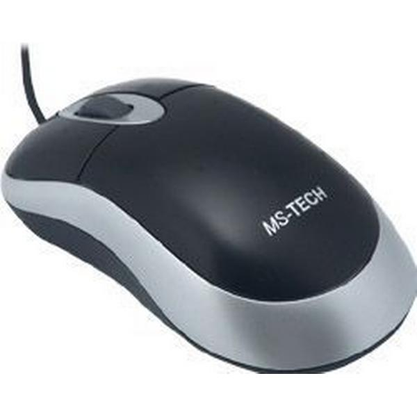 MS-Tech SM-25 Optical Mouse Black/Silver