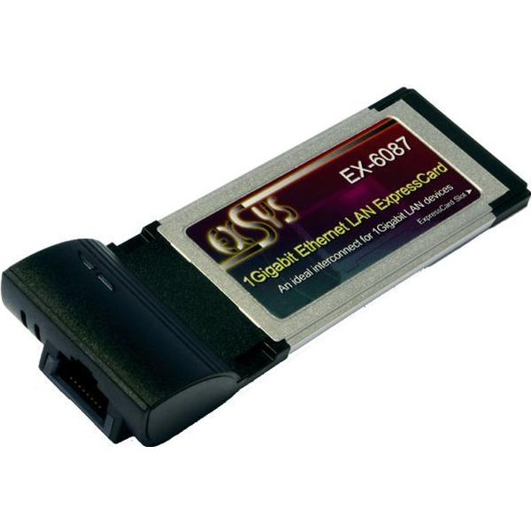 EXSYS 1Gigabit Ethernet LAN ExpressCard (EX-6087)
