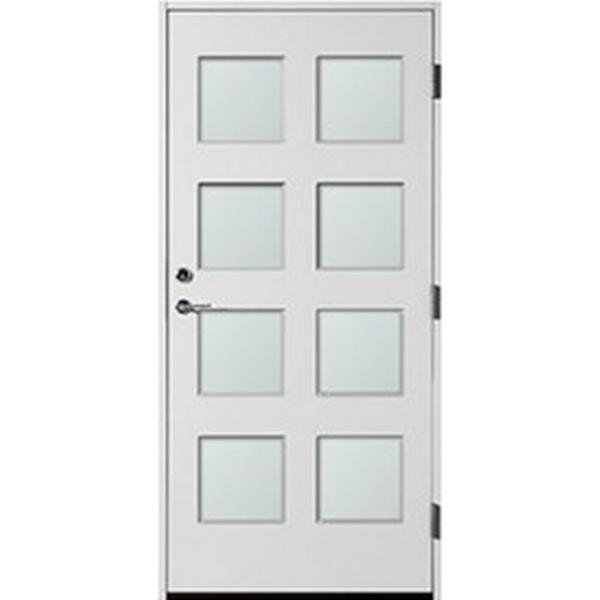 Polardörren 8 Square Ytterdörr Frostat glas S 0502-Y H (100x210cm)