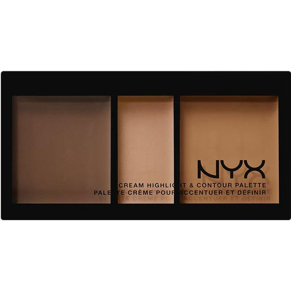 NYX Cream Highlight & Contour Palette Deep