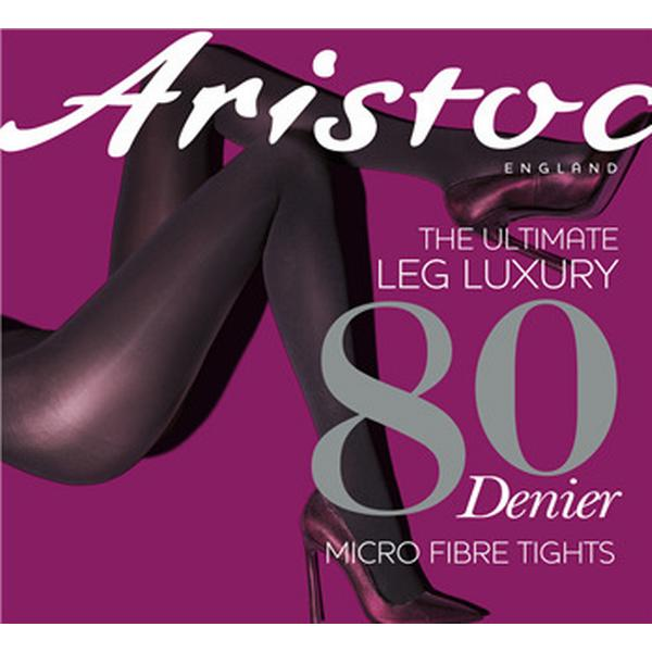 Aristoc 80 Denier Microfibre Opaque Tights Black (FARASL1BLCK5ML)
