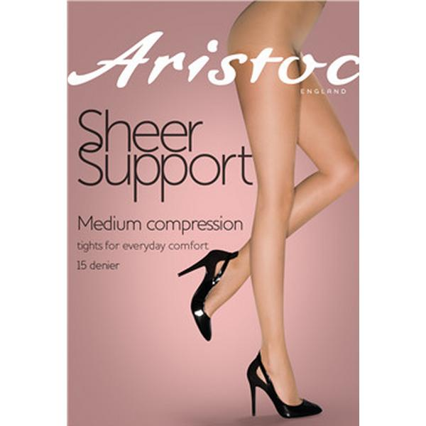 Aristoc 15 Denier Medium Support Tights Black (FARAUA5BLCK2S)