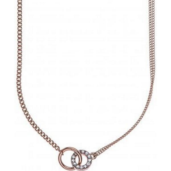 Snö of Sweden Blizz Zinc Rose Gold Plated Chain Necklace (610-0400255) d9b2ae6387f76
