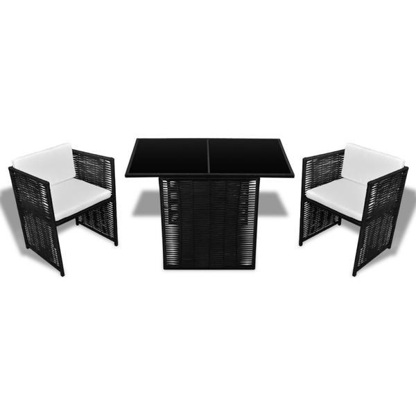 vidaXL 40925 Havemøbelsæt, 1 borde inkl. 2 stole