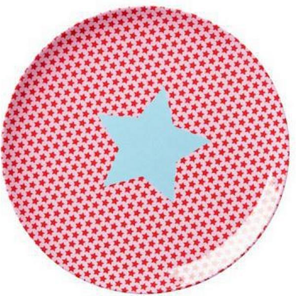 Rice Frokosttallerken i Melamin Girl Star Print 20cm