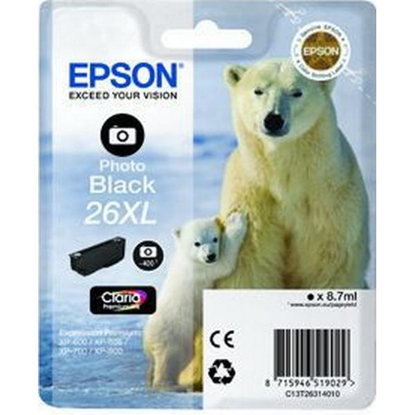 Epson (C13T26314010) Original Bläckpatron Svart 8.7 ml