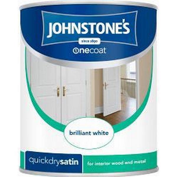 Johnstones One Coat Quick Dry Satin Wood Paint, Metal Paint Brown 0.75L
