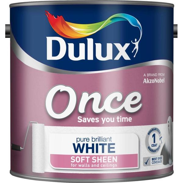 Dulux Once Soft Sheen Wall Paint, Ceiling Paint White 2.5L