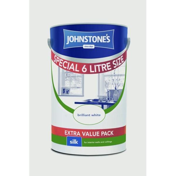Johnstones Silk Wall Paint White 6L