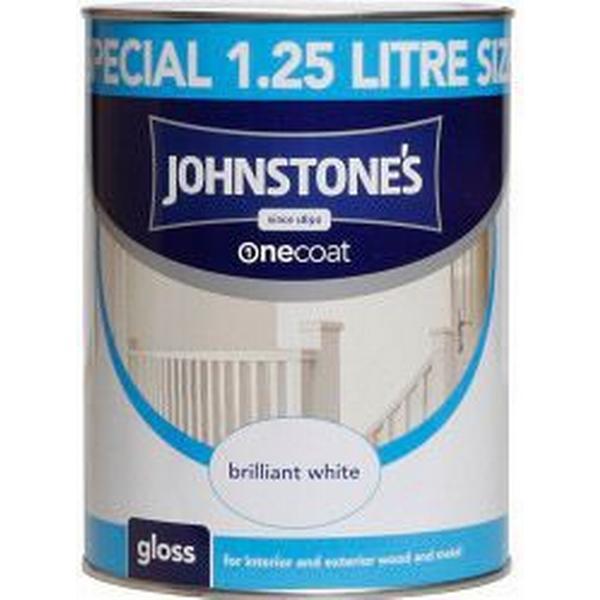 Johnstones One Coat Wood Paint, Metal Paint White 1.25L