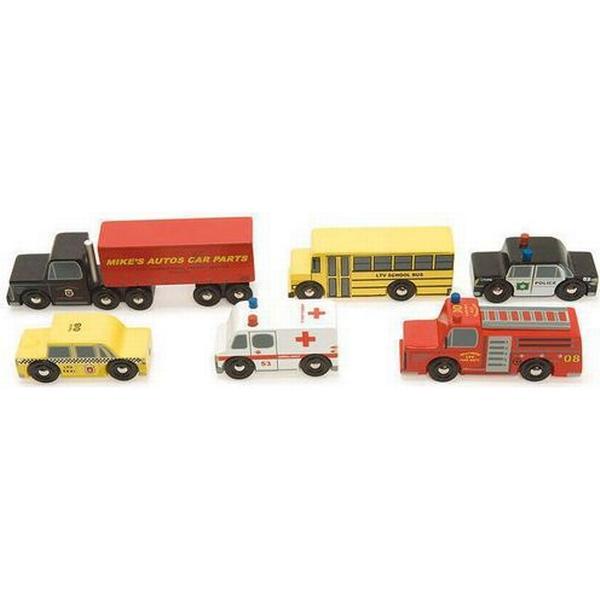 Le Toy Van New York Biler, 6 Stk
