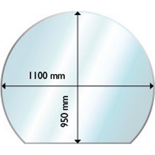 Aduro Glass Floor Hearth Round With Edge 6mm 95X110cm