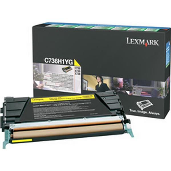 Lexmark (C736H1YG) Original Toner Gul 10000 Sidor