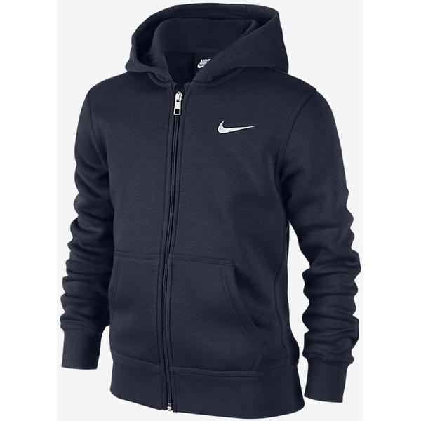 Nike Brushed Fleece Full-Zip - Obsidian / White (619069_451)