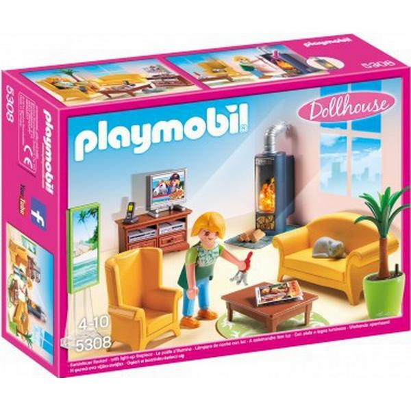 Playmobil Dagligstue Med Pejs 5308