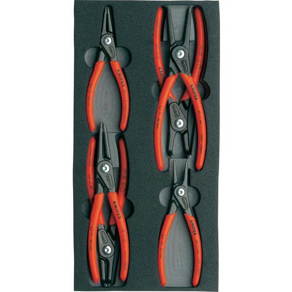 Knipex 00 20 01 V02 Låseringstang, Rundtang Set 6-delar