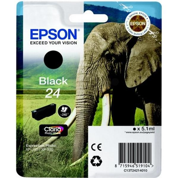Epson (C13T24214010) Original Bläckpatron Svart 5.1 ml