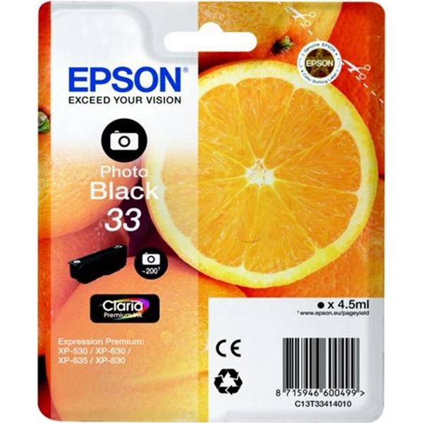Epson (C13T33414010) Original Bläckpatron Svart 4.5 ml