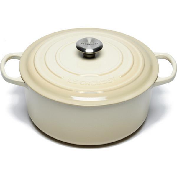 Le Creuset Almond Signature Cast Iron Round Other Pots with lid 28cm