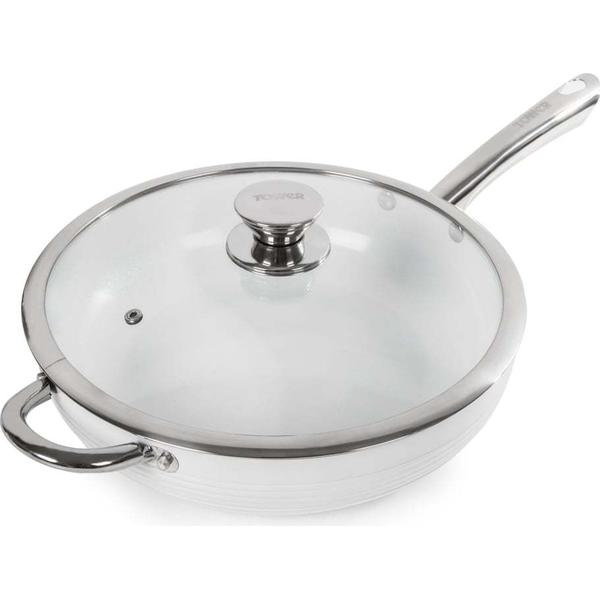 Tower Linear Saute Pan with lid 28cm