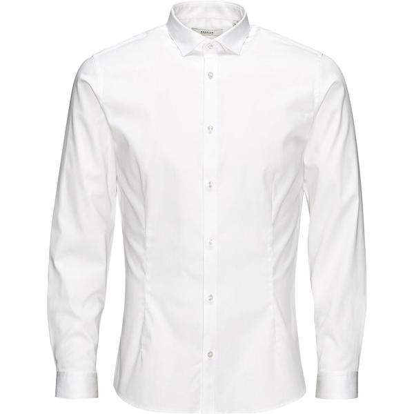 Jack & Jones Casual Slim Fit Long Sleeved Shirt - White/White