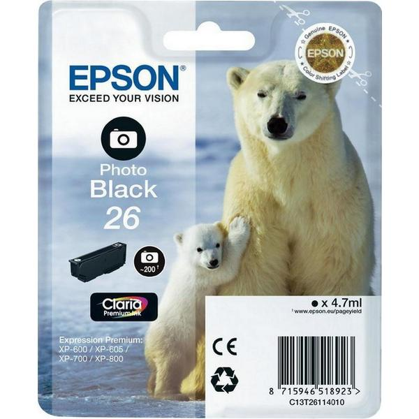 Epson (C13T26114010) Original Bläckpatron Svart 4.7 ml