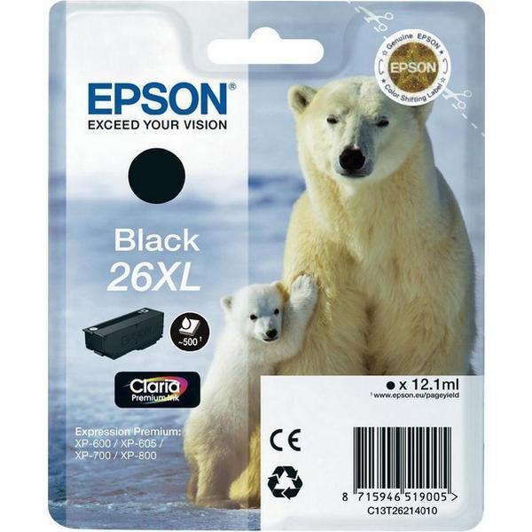 Epson (C13T26214010) Original Bläckpatron Svart 12.1 ml
