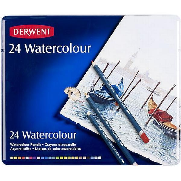 Derwent Watercolour Pencils Tin of 24