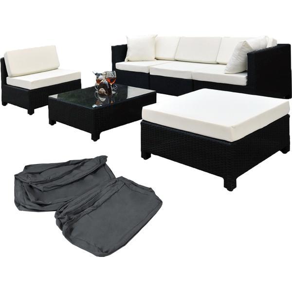 TecTake 400836 Loungesæt, 1 borde inkl. 1 sofaer