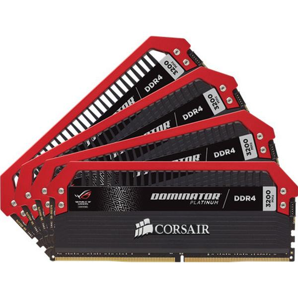 Corsair Dominator Platinum ROG Edition Red DDR4 3200MHz 4x8GB (CMD32GX4M4C3200C16-ROG)