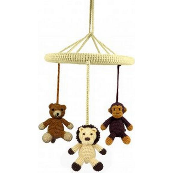 NatureZoo Circle Mobile Mr. Teddy, Miss Lion & Mr. Monkey