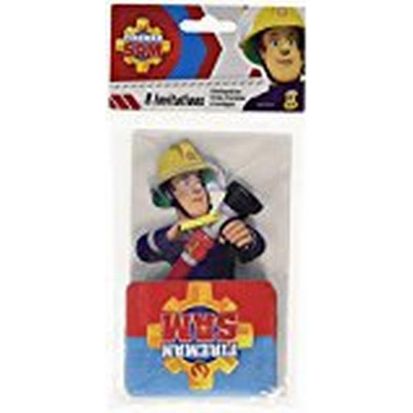 Amscan Fireman Sam Stand Up Invites & Envelopes (998157)