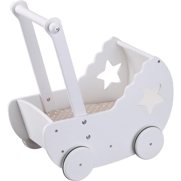 Kids Concept Dockvagn med Bäddset Star Vit