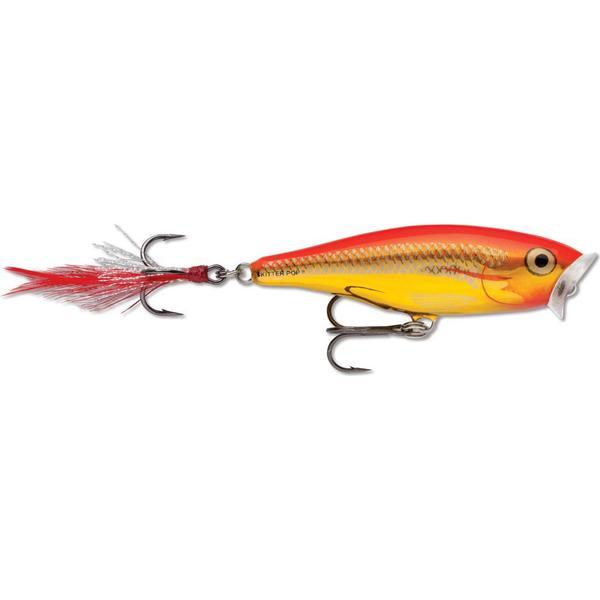 Rapala Skitter Pop 7cm Steel Gold Fluo Red SGFR