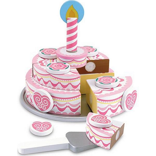 Melissa & Doug Triple Layer Party Cake Wooden Play Food